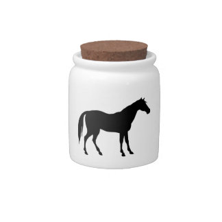 Horse Silhouette Candy Jar