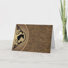 Horse Silhouette Card