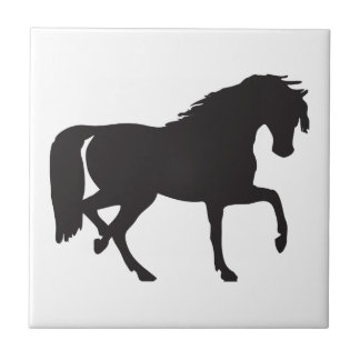 Horse Silhouette - Change background color Tile