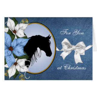 Horse Silhouette Christmas Card