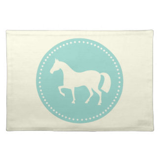 Horse Silhouette Cloth Placemat