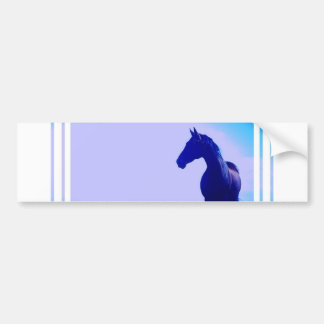 Horse Silhouette Design Bumper Sticker