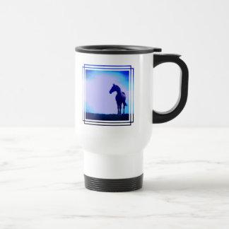Horse Silhouette Design Plastic Travel Mug