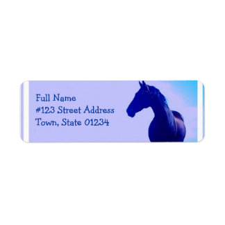 Horse Silhouette Design Return Address Label