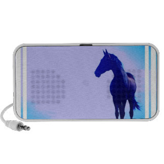 Horse Silhouette Design Speakers