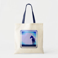 Horse Silhouette Design Canvas  tote bags