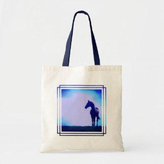 Horse Silhouette Design Tote Bag