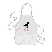Horse Silhouette Diamond Pattern Custom Kids' Apron