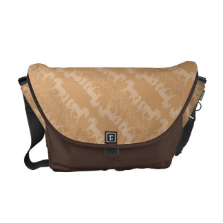 Horse Silhouette Horseshoes Pattern Messenger Bags