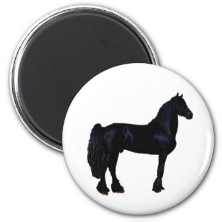 Horse silhouette in black and white magnet