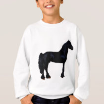 Horse silhouette in black and white sweatshirt