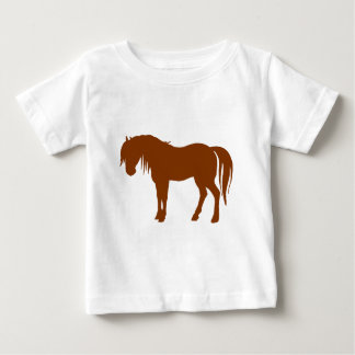 Horse Silhouette in Brown Baby T-Shirt