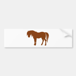 Horse Silhouette in Brown Bumper Sticker