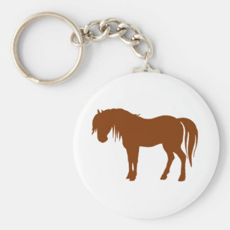Horse Silhouette in Brown Keychain