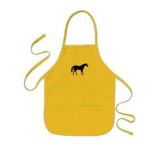 Horse Silhouette Kids' Apron