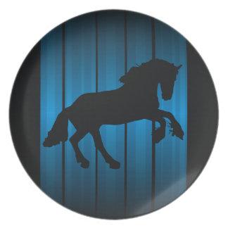 Horse silhouette melamine plate