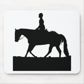 Horse Silhouette Mouse Pad