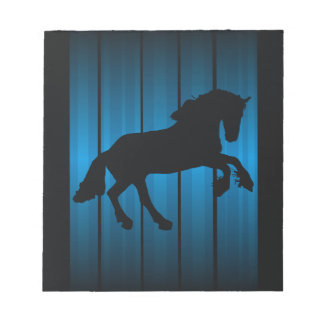 Horse silhouette note pad
