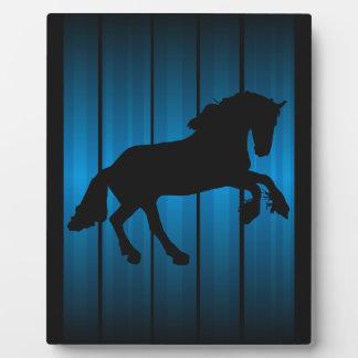 Horse silhouette plaque