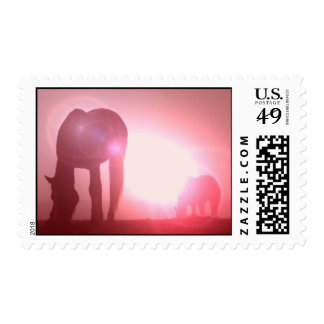 Horse Silhouette Postage Stamp