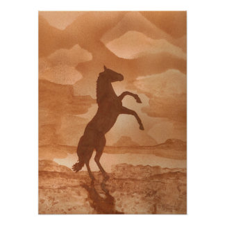 Horse Silhouette Posters