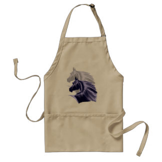 Horse Silhouette Shadowed Aprons
