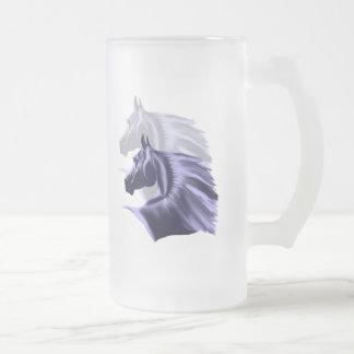 Horse Silhouette Shadowed Mug