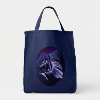 Horse Silhouette Shadowed Oval Bag