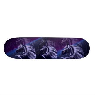 Horse Silhouette Shadowed Skateboard