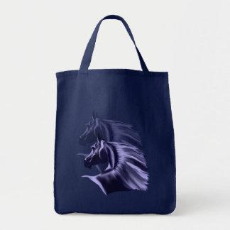 Horse Silhouette Shadowed Tote Bag