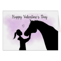 Horse Silhouette Valentine's Day Card