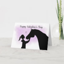 Horse Silhouette Valentine's Day Holiday Card