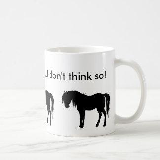 horse silouette, horse silouette, horse silouet... coffee mug
