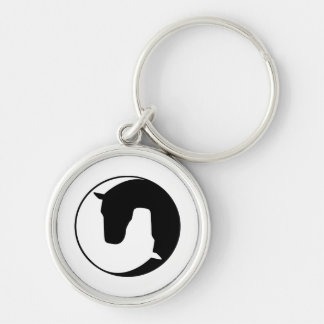 horse Silver-Colored round keychain