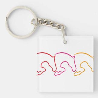 horse Single-Sided square acrylic keychain