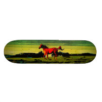 Horse Skateboard Deck
