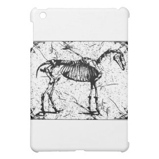 Horse Skeleton black and white iPad Mini Case