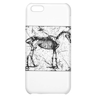 Horse Skeleton black and white iPhone 5C Cover