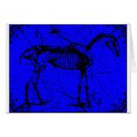 horse skeleton blue card