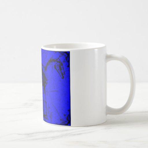 horse skeleton blue classic white coffee mug
