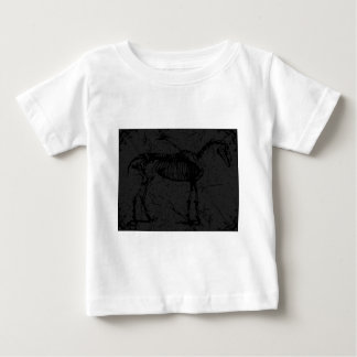 Horse skeleton dark gray baby T-Shirt