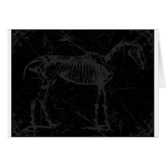Horse skeleton gray card