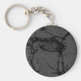 Horse Skeleton Gray Keychain
