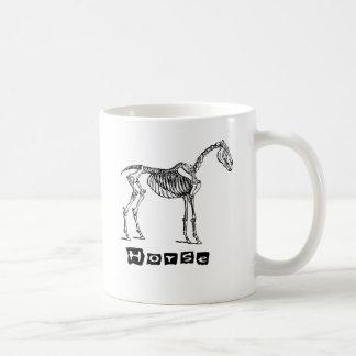 Horse (skeleton) classic white coffee mug