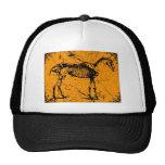 Horse Skeleton Orange Mesh Hat