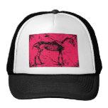 Horse skeleton pink hats