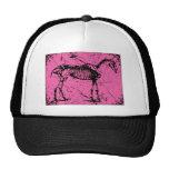 Horse Skeleton Pink Mesh Hats