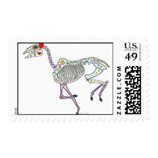 Horse Skeleton running day dead Stamp