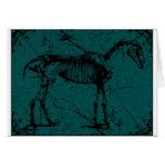horse skeleton turquiose cards