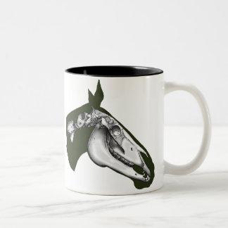 Horse Skeleton Two-Tone Coffee Mug